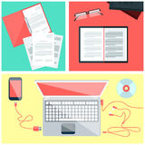 Educational set of tools Stock Images