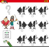 Educational shadow game with pirates Royalty Free Stock Photos