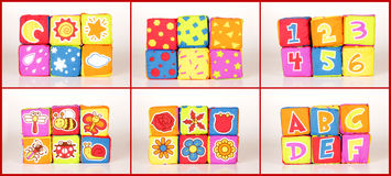 Educational soft cubes Stock Photos