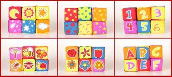 Educational soft cubes stock photos
