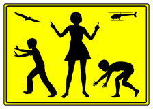 Educational Strategy. The choice of every mother to be a helicopter Mom or to educate her child to self reliance Royalty Free Stock Photo