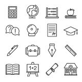 Educational study line icons Stock Photo