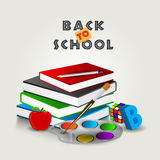 Educational supplies for Back to School concept. Royalty Free Stock Photography