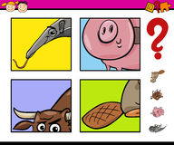 Educational task with animals Stock Photography