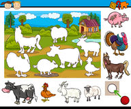 Educational task for preschoolers Royalty Free Stock Image