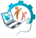 Educational team. Isolated illustrated educational team logo design Stock Images