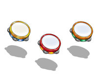 Educational Toy Musical Tambourine Stock Photography