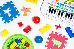 Educational toys for babies balls, mats, building blocks, piano  Stock Photography