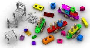 Educational toys-designers Royalty Free Stock Photos