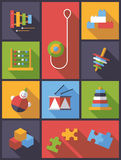 Educational toys flat design vector illustration Stock Image