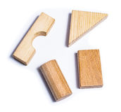 Educational wood toys Royalty Free Stock Images