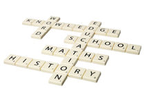 Educational words Royalty Free Stock Images