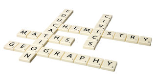 Educational words Stock Photos