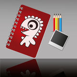 Educations set. Equipment set for study by illustrations Stock Photos