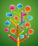 Educative социальное дерево средств Стоковые Фотографии RF