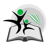Educative book symbol. Creative design of educative book symbol stock illustration