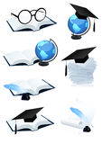 Eduction icon set. Illustration,AI file included Stock Photography