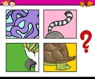 Edukaci łamigłówki zadanie dla dzieci royalty ilustracja