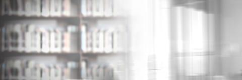 Edukaci biblioteka z okno światła przemianą zdjęcia royalty free