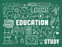Edukaci doodle elementy Obraz Stock