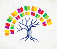 Edukaci drzewa książki pojęcie Obrazy Stock
