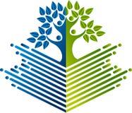 Edukaci drzewa logo royalty ilustracja