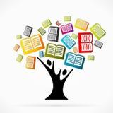 Edukaci drzewo ilustracja wektor