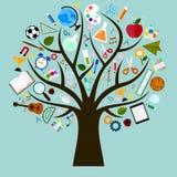 Edukaci drzewo Zdjęcie Stock
