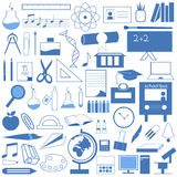 edukaci ikony set Zdjęcie Stock