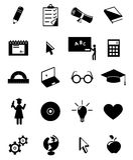edukaci ikony set Obrazy Stock
