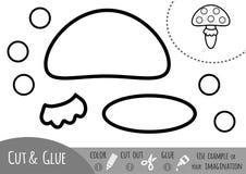Edukaci papierowa gra dla dzieci, Amanita pieczarka Obrazy Royalty Free