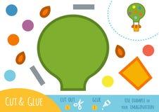 Edukaci papierowa gra dla dzieci, balon Fotografia Royalty Free