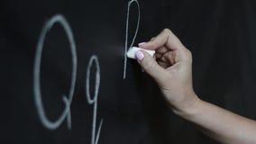 Edukaci pojęcie - ABC abecadła szkoły blackboard pojęcie Nauczyciel pisze ABC abecadle w Angielskiej klasie lub zdjęcie wideo