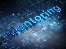 Edukaci pojęcie: Błękitny obowiązki mentora na cyfrowym tle Obraz Royalty Free
