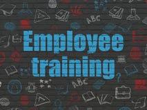 Edukaci pojęcie: Pracownika szkolenie na ściennym tle Zdjęcia Royalty Free
