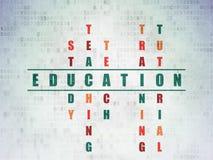 Edukaci pojęcie: słowo edukacja w rozwiązywać Obraz Royalty Free