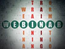 Edukaci pojęcie: słowo Webinar w rozwiązywać Zdjęcia Stock