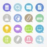 Edukaci sieci ikony Zdjęcie Stock