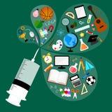 Edukaci szczepionka Fotografia Royalty Free