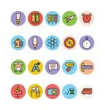 Edukacj Barwione Wektorowe ikony 5 ilustracji