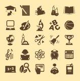 Edukacj ikony Obrazy Stock