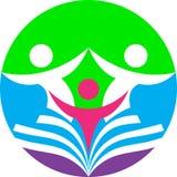 Edukacja i trening logo ilustracji