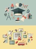 Edukacja Infographics Obraz Royalty Free