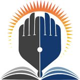 edukacja jaskrawy logo Obraz Royalty Free