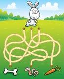 Edukacja labiryntu gra Obrazy Royalty Free