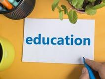 Edukacja, Motywacyjny słowo wycena pojęcie zdjęcie stock