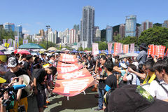 'Edukacja Narodowa' Podnosi Furor w Hong Kong Obraz Stock