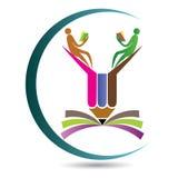 Edukacja ołówka logo Obrazy Royalty Free