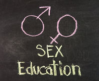 Edukacja seksualna Obrazy Royalty Free