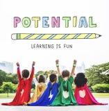 Edukacja uczenie Jest zabaw dzieci grafiki pojęciem fotografia royalty free